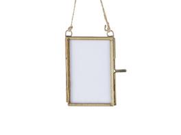 HANG ON kleiner Bilderrahmen Glas/Metall