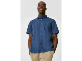Hemd - Regular Fit - Button-down - Leinen-Mix