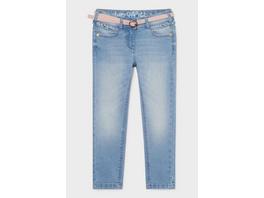 Skinny Jeans mit Gürtel