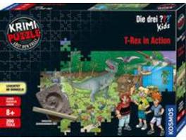 KOSMOS 680657 - Die drei ??? Kids, T-Rex in Action, Krimipuzzle ()