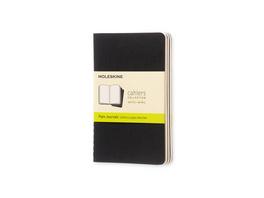 Moleskine Cahier, 3er Set, Pocket/A6, Blanko