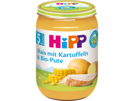 Mais mit Kartoffelpüree und Bio-Pute